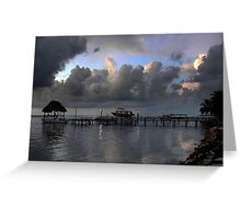 A Jetty Morning...Central America Greeting Card