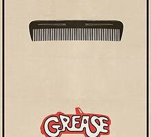Grease Minimal Movie Poster by FinlayMcNevin