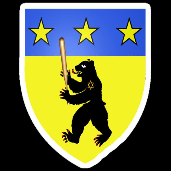 Bear Jew Crest Inglorious Basterds (Bastards) by gleekgirl