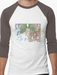 Mother Nature and her elements Men's Baseball ¾ T-Shirt