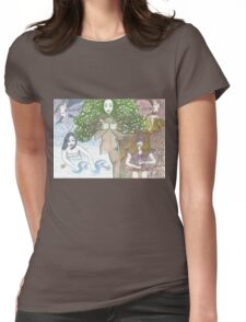 Mother Nature and her elements Womens Fitted T-Shirt