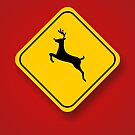 Holiday Deer Crossing by colleen e scott