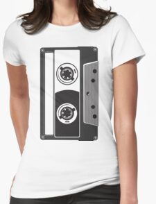 Big Cassette Womens Fitted T-Shirt