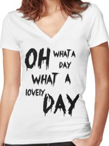 Oh, What a Lovely Day Women's Fitted V-Neck T-Shirt