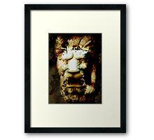 Lion Destruction Framed Print