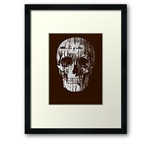Ripped Up Skull Framed Print