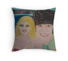 Ringo Starr & Jennifer Hawkins -The Beatles Time Throw Pillow