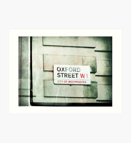 oxford street Art Print