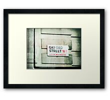 oxford street Framed Print