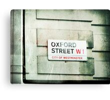 oxford street Canvas Print