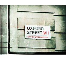 oxford street Photographic Print