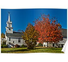 New England Church Poster