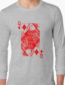 QUEEN OF DIAMONDS-RED Long Sleeve T-Shirt