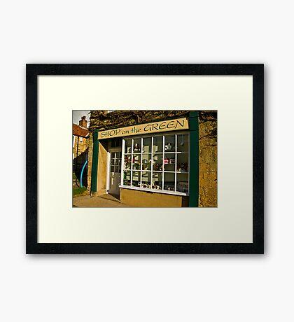 Shop on the Green Framed Print