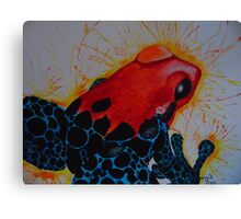 Psychedelic Frog Canvas Print