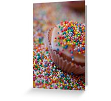 Colourful Cup Cake Greeting Card
