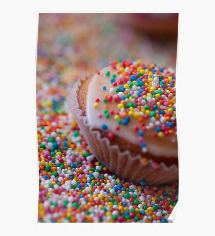 Colourful Cup Cake Poster
