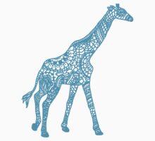 Printed Giraffe - Blue Kids Tee