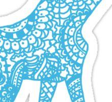 Printed Giraffe - Blue Sticker