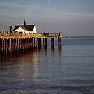 October evening light on Southwold Pier. by Karen  Betts