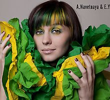 :: Green ribbons :: III by Aleksandra Navetnaya