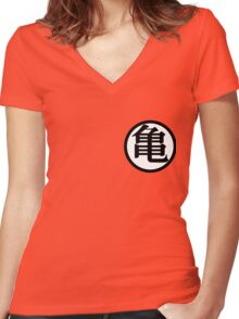Dragon Ball Z - Goku's Shirt Front Women's Fitted V-Neck T-Shirt