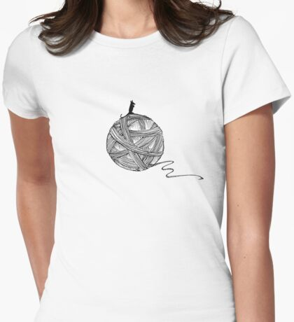 On Top Of The Yarn Womens Fitted T-Shirt