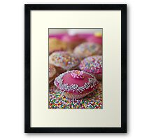 Colourful Cup Cakes Framed Print