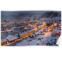 Blaenau Ffestiniog in the grip of winter  Poster