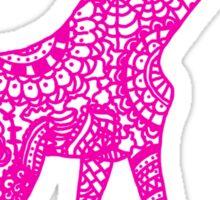 Printed Giraffe - Pink Sticker