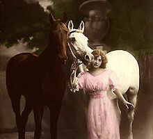 Vintage Beauty and Her Steeds by VintageMoon