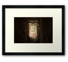 Through Broken Glass Framed Print
