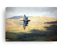 F15 over Wales Canvas Print