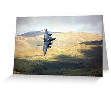 F15 over Wales Greeting Card