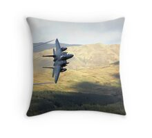 F15 over Wales Throw Pillow