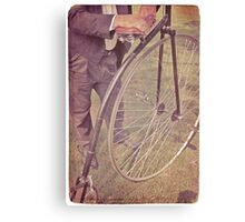 Penny-farthing in the park Canvas Print
