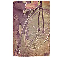 Penny-farthing in the park Photographic Print