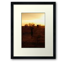 Ethiopia silhouette Framed Print
