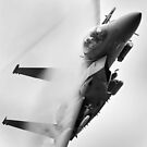 F15 on a tight turn by Rory Trappe