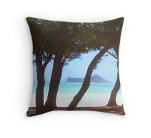 Bellows Beach, Oahu Hawaii Throw Pillow