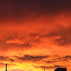 Firey sunset by davidleahy
