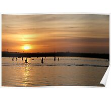 Dun Laoghaire sunset Poster