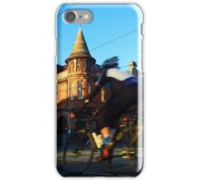 Perseverance Hotel and Cyclist (Fitzroy, Melbourne) iPhone Case/Skin