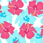 pattern with hibiscus  by SIR13