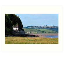 The Boathouse  - Laugharne   South Wales Art Print
