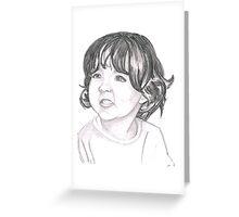 portrait of little girl Greeting Card