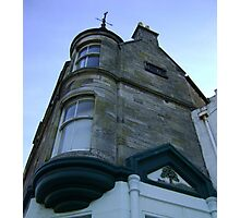 the waiting windows (glass and stone curved, turret, Burntisland) Photographic Print