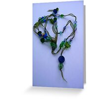 Delicate and blue Greeting Card