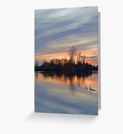 Sunset on the Canal Greeting Card