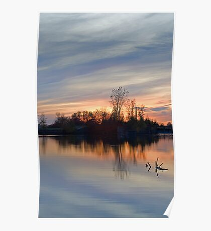 Sunset on the Canal Poster